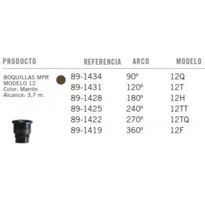 Bicos TORO MPR - Modelo 12 - Marron - Tabela