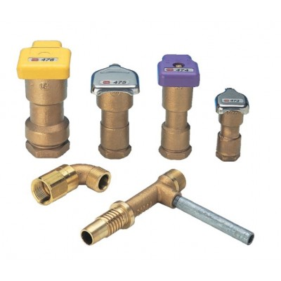 Brass valve quick coupling TORO