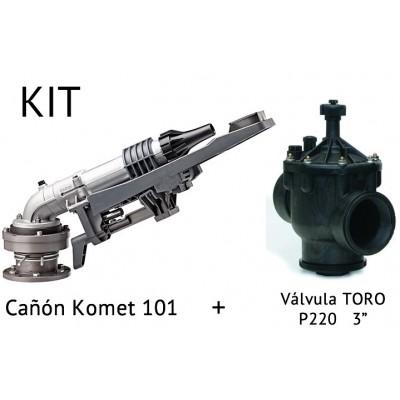 """Kit Canhão de rega BEYER 101 + Válvula P220 3"""""""