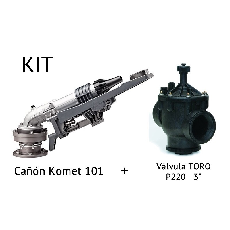 "Kit de Cañón de riego KOMET 101 + Válvula P220 de 3"""