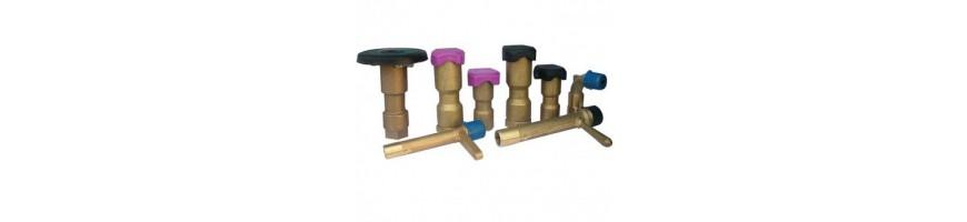 Válvulas de acoplamiento rápido y codos