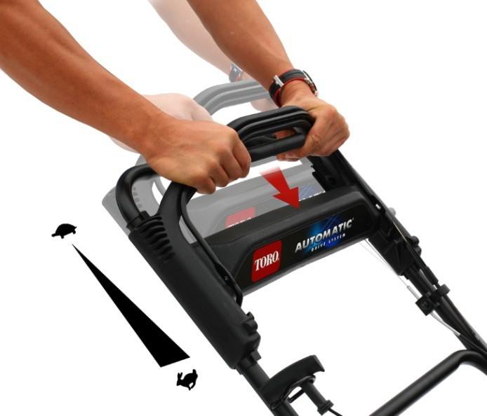 Sistema Automatic Drive System del cortacésped de gasolina TORO 550 C REC Multicycler