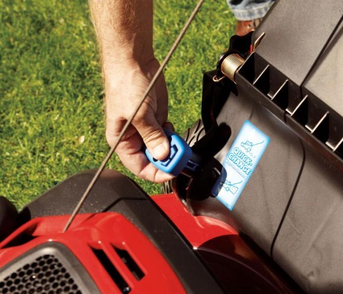 Ensacado a demanda del cortacésped de gasolina TORO 550 C REC Multicycler