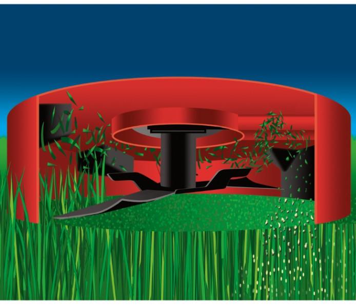 Tecnología Recycler, del cortacésped de gasolina TORO 550 C REC Multicycler