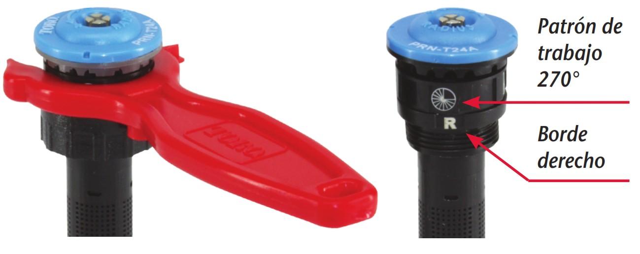 Llave de ajuste para la boquilla TORO Precision Rotating para difusor 570