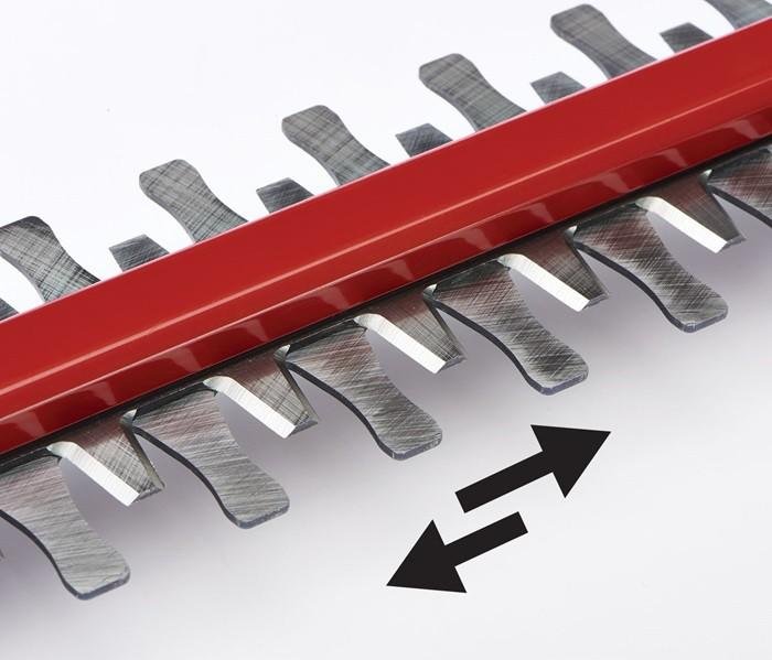 Sistema de corte de doble acción  del cortasetos TORO 40V