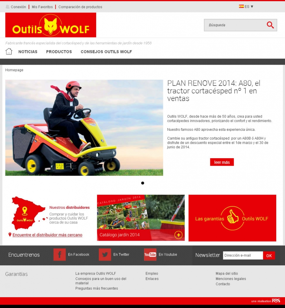 Outils WOLF. Nueva web