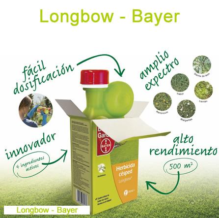 Longbow de Bayer, herbicida selectivo para césped.