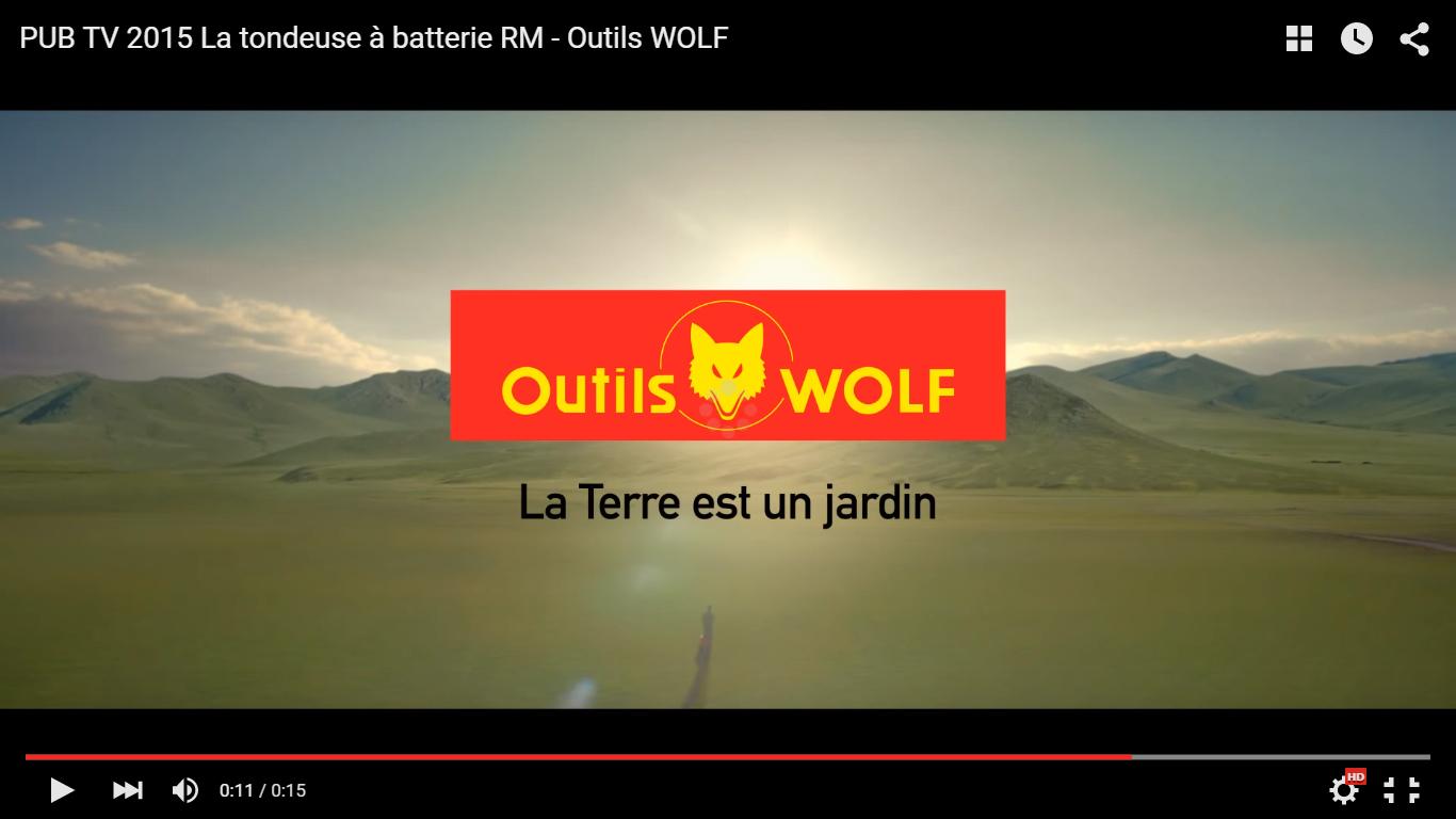 Anuncio tv del cortacésped a bateria de Outils WOLF, serie RM