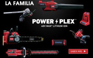 Gama de herramientas a bateria PowerPlex de TORO